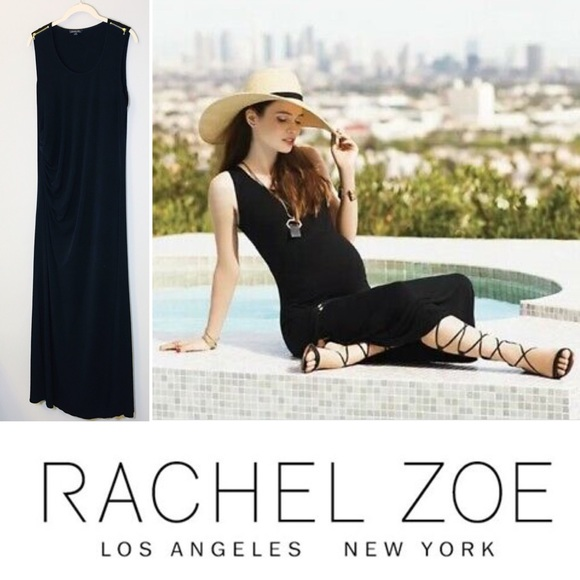 Rachel Zoe Dresses & Skirts - Rachel Zoe Black Knit Maxi Maternity Dress